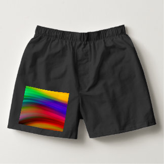 Gentle Rainbow Waves Abstract Boxers