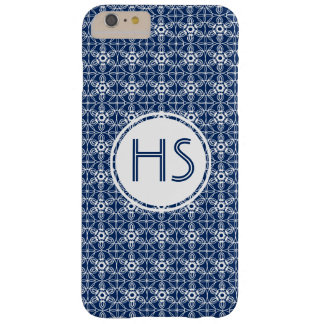 Gentle Snowflakes  Monogram Damask Barely There iPhone 6 Plus Case