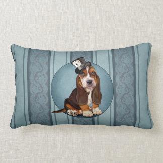 Gentleman Basset Hound Puppy Lumbar Pillow