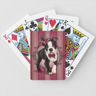 Gentleman Boston Terrier Bicycle Playing Cards