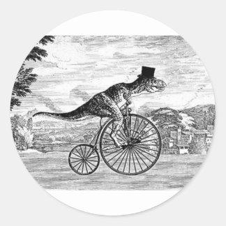 Gentleman T-Rex's Sunday Ride Classic Round Sticker