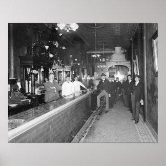 Gentlemen At The Bar 1910 Posters