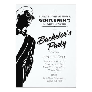 Gentlemen's Bachelor's Party 11 Cm X 16 Cm Invitation Card