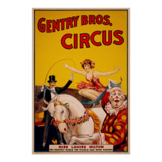 Gentry Bros. Circus Poster