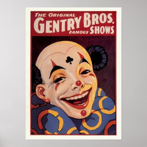 Gentry Bros. Vintage Circus Posters