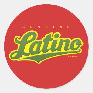 Genuine Latino - sticker (green/red)
