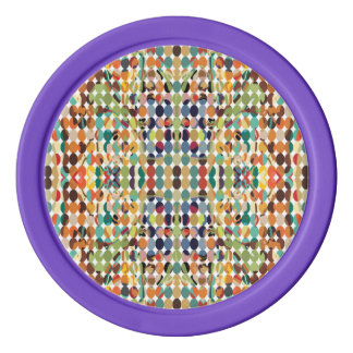 [GEO-ABS-1] Abstract oval pattern Poker Chip Set