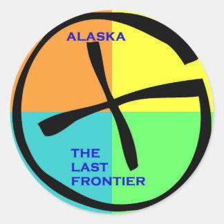Geocache Alaska Classic Round Sticker