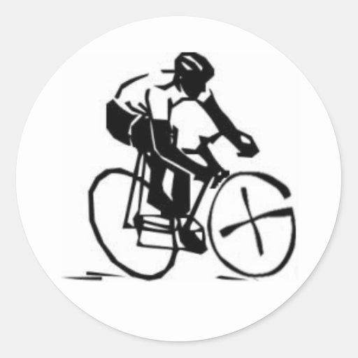 Geocache Biker Round Stickers