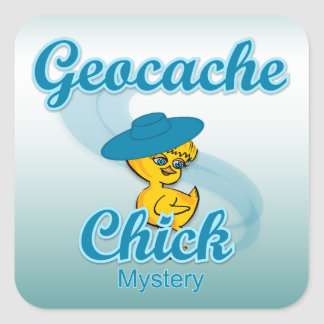 Geocache Chick Mystery #3 Square Stickers
