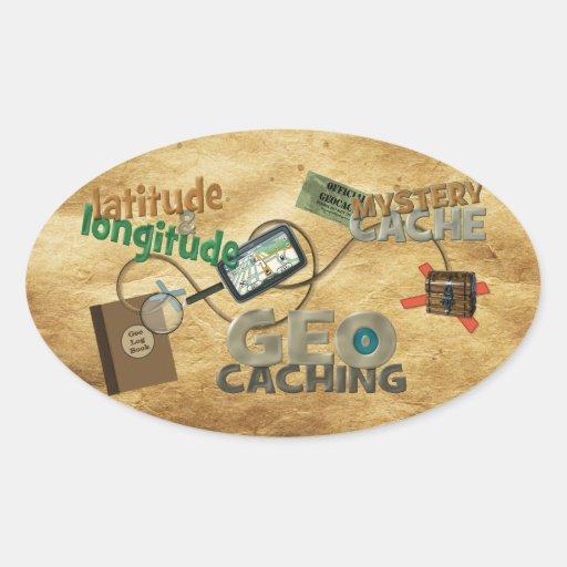 Geocache Fever Oval Sticker