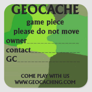 Geocache ID sticker