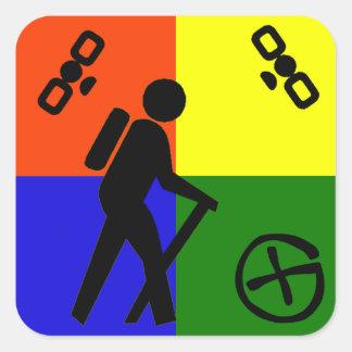 Geocache Logo Square Sticker