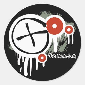 Geocacher Vector Round Stickers