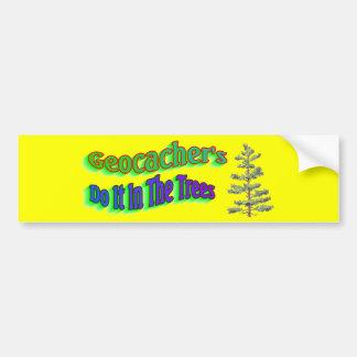 Geocachers Do It Ib The Trees Bumper Sticker