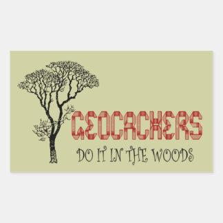 Geocachers-Do it in the woods Rectangular Sticker