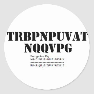 Geocaching Addict Round Sticker