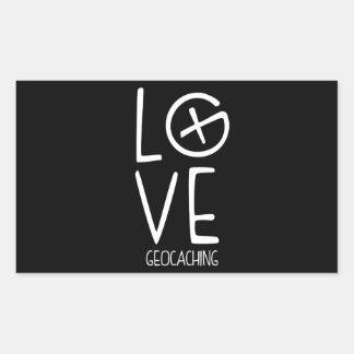 Geocaching Love Rectangular Sticker