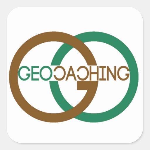 Geocaching Square Stickers