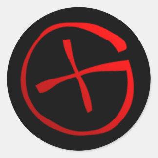 Geocaching Symbol Round Sticker