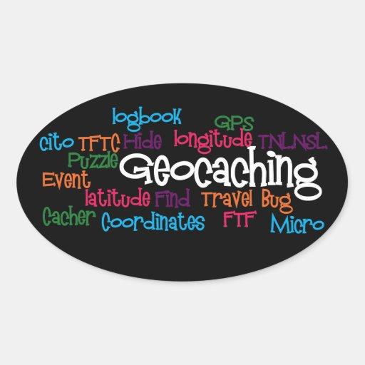 Geocaching Word Collage Sticker