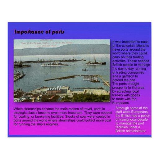 Geography, Importance of ports Posters