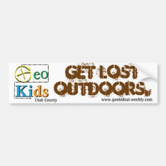 GeoKids Get Lost Bumper Swag Bumper Sticker