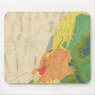Geological Map Of The Western Part Mouse Pad