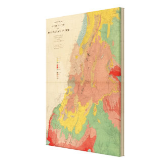 Geological map of Utah Canvas Print