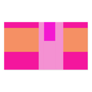 Geometric Abstract Art Minimal Pink Business Cards