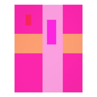 Geometric Abstract Art Minimal Pink Full Color Flyer
