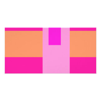 Geometric Abstract Art Minimal Pink Photo Cards