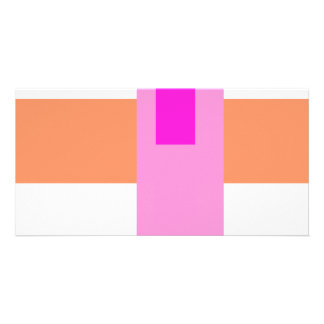 Geometric Abstract Art Minimal Pink Customized Photo Card