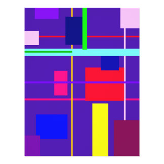 Geometric Abstract Red Square Deep Purple Flyer Design