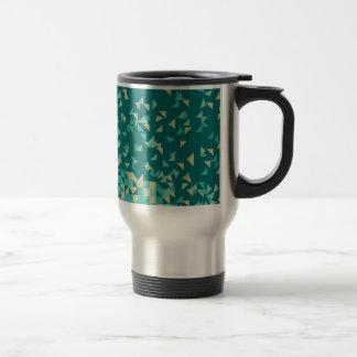 Geometric Alphabet - Green Travel Mug
