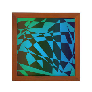 Geometric art desk organisers