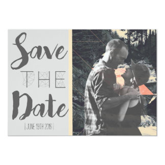 Geometric Art Graphic Save The Date Card