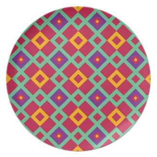 Geometric background party plates