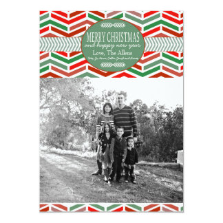 Geometric Christmas Holiday Photo Card