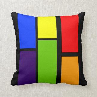 geometric colorful rectangles cushion