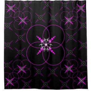 Geometric Crop Circle Shower Curtain