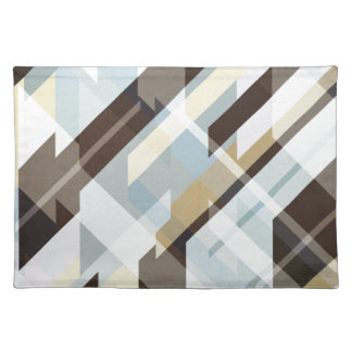 Geometric Earth Tones Abstract Placemat