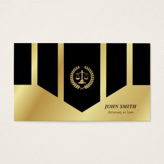 Geometric Faux Gold Libra Laurel Classic Lawyer Business Card