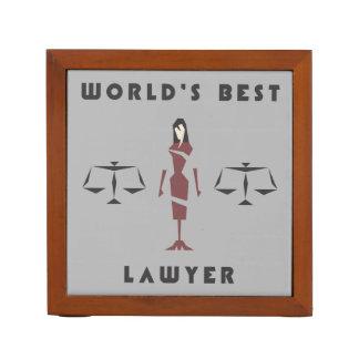 Geometric Female World's Best Lawyer Desk Organiser