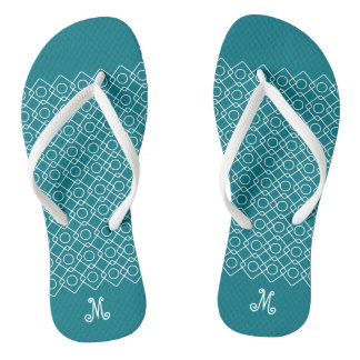 Geometric Filigree with Custom Monogram Jandals
