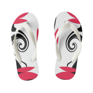 """GEOMETRIC FLIP FLOPS"" KIDS CUSTOM FLIP FLOPS THONGS"