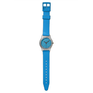 Geometric Floral in Bright Blue Watch