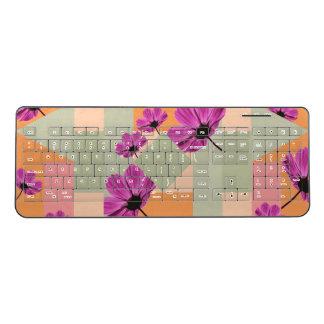 Geometric Flowers Wireless Keyboard