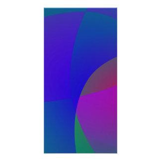 Geometric Gentle Deep Colors Customized Photo Card
