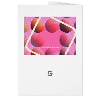 """Geometric"" Greeting Card & white envelopes"